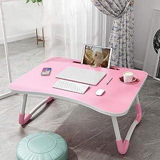 HZWLF Table Pliante pour Ordinateur Portable, Table à Manger Paresseux canapé-lit, Bureau pour Enfants, Maison/Bureau/Voya...