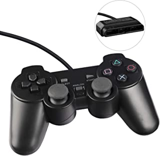 Wired PS2 Game Controller Double Shock Gamepad for Sony PlayStation 2 (New Black)