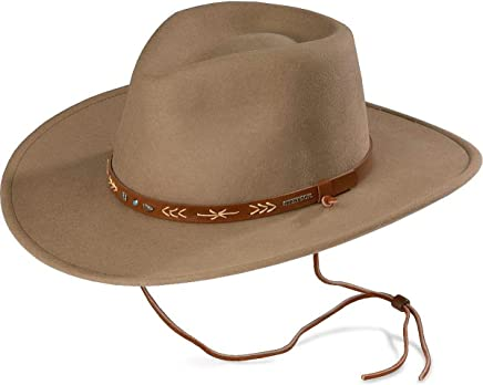 cb064f040a5 Stetson Men s Santa Fe Crushable Wool Felt Hat