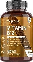 Vitamine B12 Vegan 1000 µg Pure - 400 Comprimés Méthylcobalamine - 13 mois d'Approvisionnement B 12 - Facile à Avaler, Sans OGM – Complément Alimentaire Naturel pour Système Immunitaire, Anti Fatigue