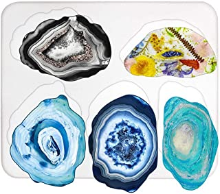 FunPa DIY Jewellery Resin Casting Art Craft Mold with 5 Large Size Irregular Patterns Silicone Coaster Molds for Epoxy Res...