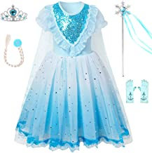 QPANCY Snow Princess Costume Girls Queen Dress Up Halloween Party Dresses Cosplay Clothes