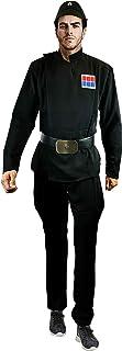 Imperial Officer Black Uniform Belt Cap Rank Pad Costume Set Star Wars