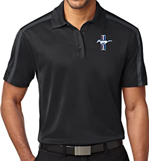 Mens Ford Mustang GT Colorblock-Stripe Polo Shirt