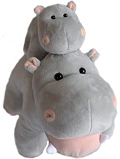Exceptional Home Hippo Stuffed Animals Oh So Soft Plush Mother Baby Hippos Hippopotamus Toy Set