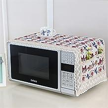 HHYK Cubierta de microondas Horno microondas Campana Aceite Protector contra el Polvo con Bolsa de Almacenamiento Accesorios Cocina de la Caja Organizador Inicio Decoración (Color : Style 3)