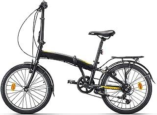 "AFX Bicicleta Plegable Urbana 20"" Goteborg, Negro"