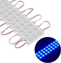Injection 3 LED Module Blue 5050 SMD 0.72W 200PCS/Pack Waterproof Decorative Back Light for Letter Sign Advertising Signs with Tape Adhesive Backside