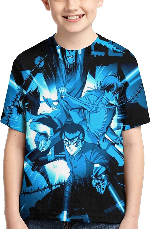 Yu Yu Hakusho T Shirt,3D Print Funny Polo Shirts Short Sleeve Tops,for Youth Tee Boys Girls