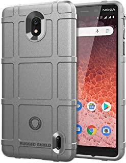 QFH Shockproof Rugged Shield Full Coverage Protective Silicone Case for Nokia 1 Plus(Army Green) new style phone case (Col...