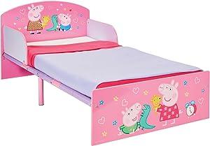 Peppa Pig Peppa Wutz-Bett für Kleinkinder von Worlds Apart, Rosa, Holz, 143 x 77 x 42.5 cm