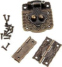 Klink Hasp sluiting + 3psc / set kabinet scharnier Antiek Brons Vintage sieraden doos geval Kast Meubelen Accessoires Hard...
