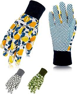 دستکش باغبانی گل Hortem برای زنان ، دستکش های پنبه ای نرم نقطه خالص PVC ، حیاط تمیز کردن ، ماهیگیری (3 جفت)