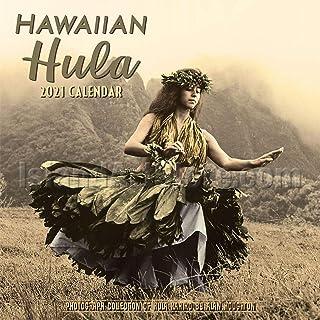 2021年 ハワイアン ヴィンテージ インテリア カレンダー 壁掛け アート(フラガール) ハワイアン雑貨 おしゃれ ハワイ お土産