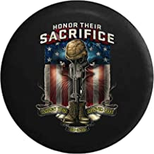 Spare Tire Cover Military Honor - Sacrifice Veteran POW MIA Eagle Flag fits SUV or Camper RV Accessories 33 Inch