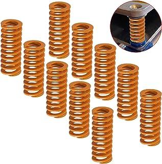 CESFONJER 10 stuks 3D-drukveren, drukveren 8 mm of 20 mm 3D Printer Springs 3D printer veren lange lichtbelasting compress...