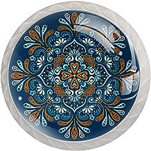 AITAI Mandala Boho Indiase Bohemen Ronde Kabinet Knop 4 Pack Trekt Handgrepen