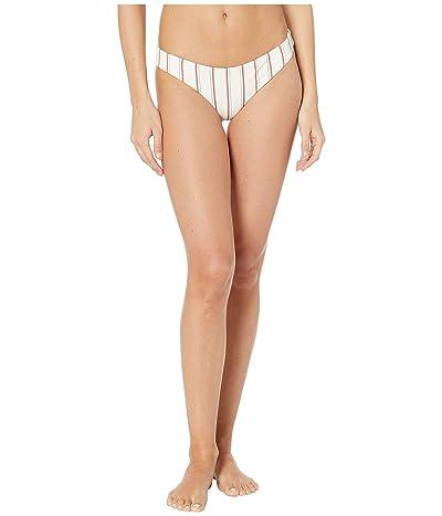 Eberjey Summer Stripes Annia Bikini Bottoms (Ecru/Redwood) Women
