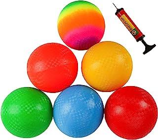 Ogrmar 6PCS 8.5 Inch Playground Balls Dodgeballs with 1 Hand Pump for Kids and Adults Dodge Ball, Kickball, Handball, Camp...