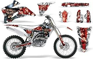 Diamond Flames-AMRRACING MX Graphics decal kit fits Yamaha PW50 All years-Yellow-Red-BG