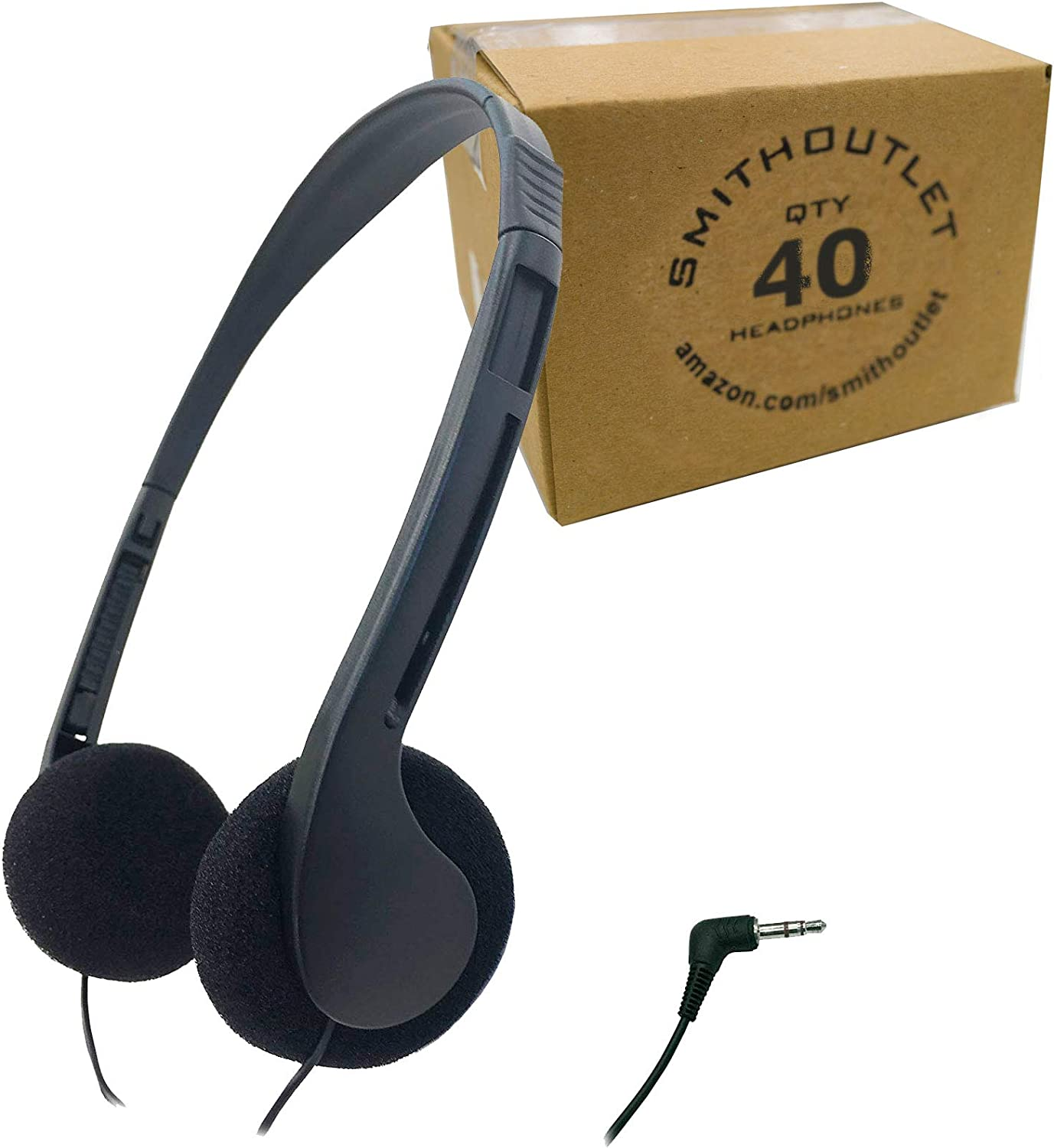 SmithOutlet 40 Manufacturer direct delivery Pack Boston Mall Low Library Cost Headphones Classroom