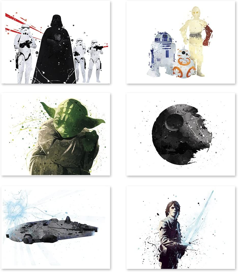 Max 67% OFF Star Wars Poster Inspired Watercolor Wall Art Death 5 ☆ popular St Yoda Jedi
