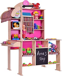 Costzon Wooden Grocery Store, Supermarket Pretend Play Set for Kids