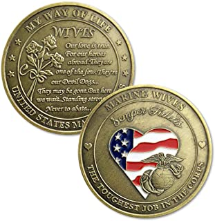 United States Marine Corps Marine Wives Challenge Coins