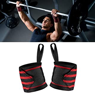 99 Carpro Wrist Wraps for Men and Women,  2pcs Adjustable Hand Straps Wrist Support Braces with Thumb Loops for Weight Lifting,  Strength Training,  18 inch