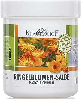Kräuterhof 10er Vorteilspack Ringelblumen-Salbe mit Vaseline, 10 Dosen a 100ml