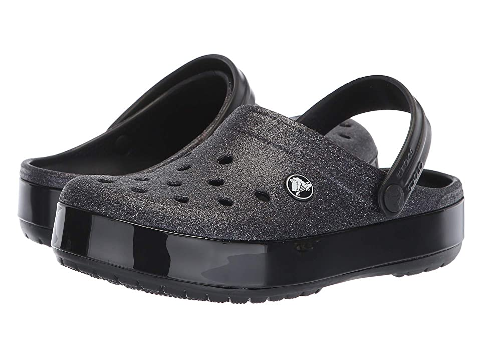 Crocs Crocbandtm Glitter Clog (Black) Clog Shoes