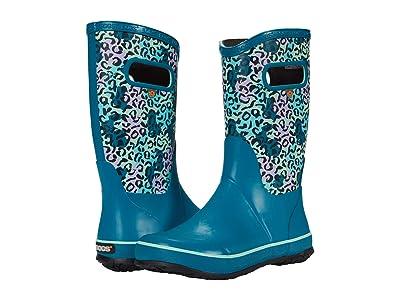 Bogs Kids Rain Boots Leopard (Toddler/Little Kid/Big Kid) (Teal Multi) Girls Shoes
