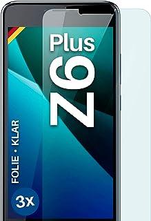 moex Genomskinlig skyddsfilm kompatibel med Acer Liquid Z6 Plus – displayfolie kristallklar, HD-displayskydd, tunn reptåli...