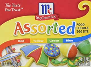 2 Pack McCormick Food and Egg Coloring Dye 4 Colors