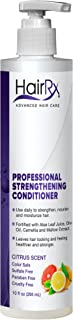 HairRx Professional Strengthening Conditioner with Pump, Citrus Scent, 10 Ounce