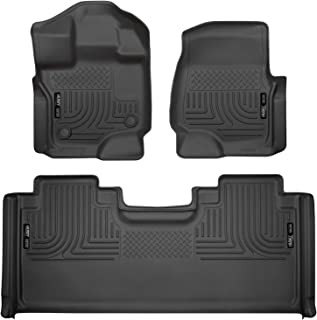 Husky Liners 94051 Fits 2015-20 Ford F-150 SuperCab Weatherbeater Front & 2nd Seat Floor Mats, Black
