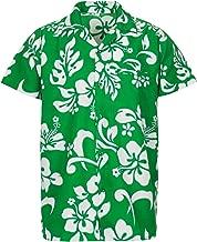 V.H.O. Funky Hawaiian Shirt Men Short-Sleeve Front-Pocket Hibiscus Multiple Colors