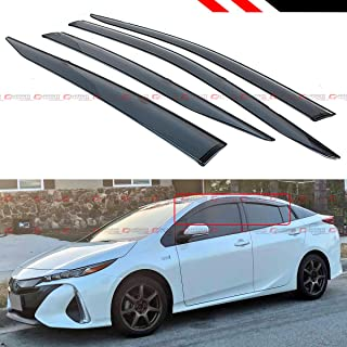 Cuztom Tuning Fits for 2016-2019 Toyota Prius Prime Smoke Tinted Window Visor Rain Guard with Clips