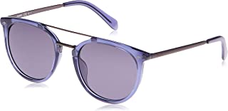 Fossil 3077/S Panto Round Sunglasses For Unisex - Purple Lens, 53 mm