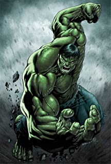 Artwcm Avengers Incredible HULK Oil Paintings Modern Canvas Prints Artwork Printed on Canvas Wall Art for Home Office Decorations-549 (Framed,12x18inch)