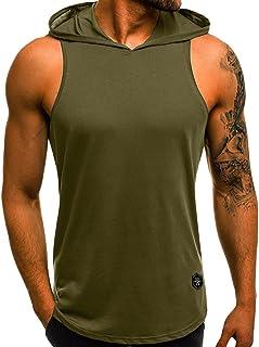 Btruely Tankshirt /Ärmelloses Tank-Top f/ür Herren Volltonfarbe Tanktop Basic Tr/ägershirt Sport Kurzarm atmungsaktiv Muskelshirt Slim Fit Blusen