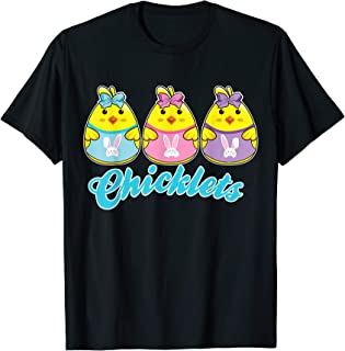 Girls Easter Shirt Chicklets Peep t-shirt Cute Chick Tee