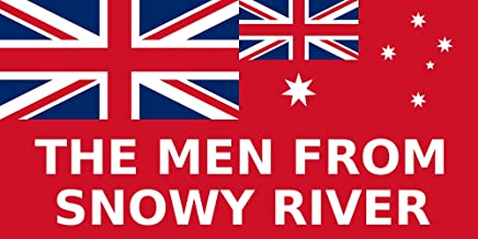 magFlags Bandera Large The Men from Snowy River | A WWI Custom Flag from Australia | Bandera Paisaje | 1.35m² | 80x160cm