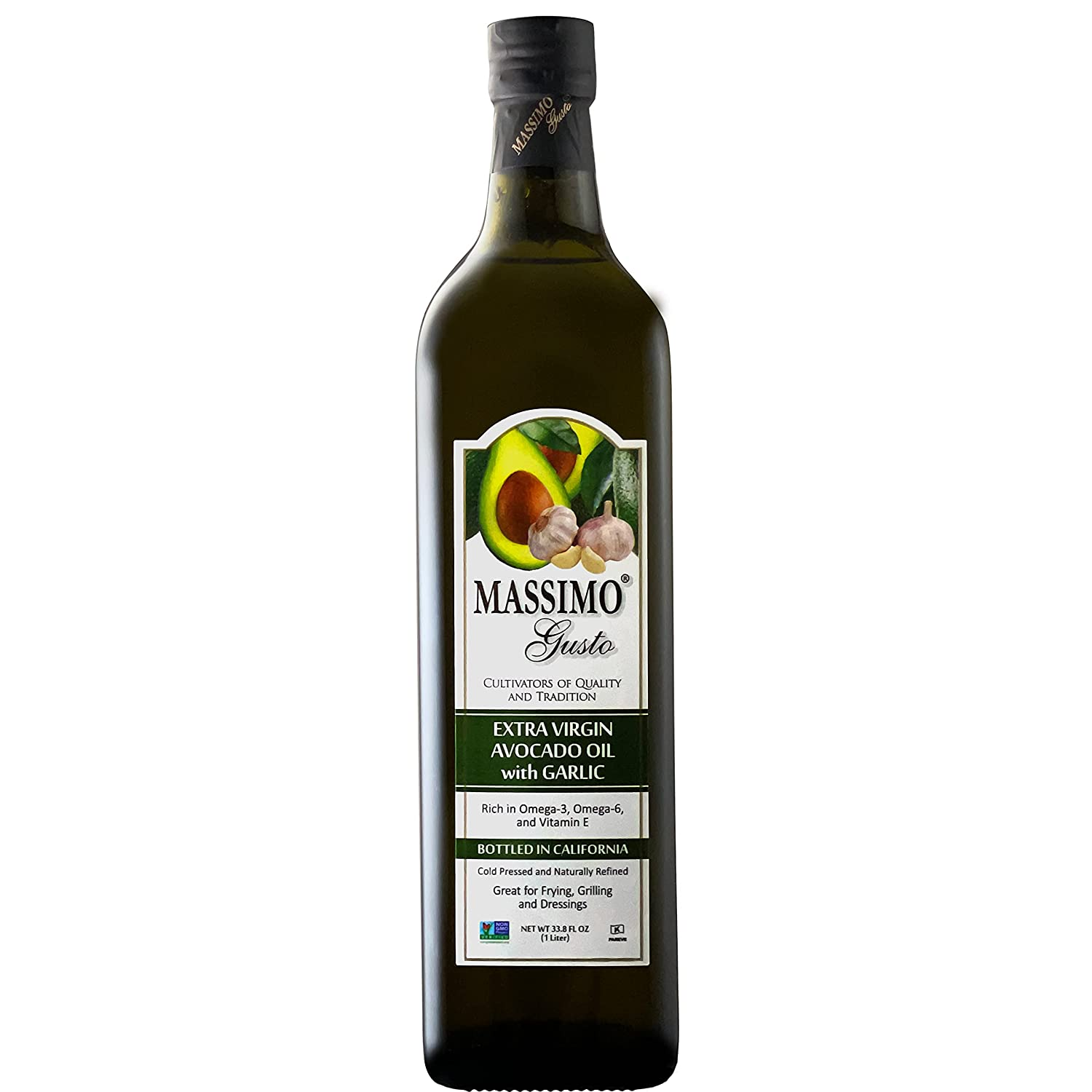 Massimo Gusto - Garlic Infused Avocado Max 50% OFF Oil Li Virgin 1 Limited time trial price Extra