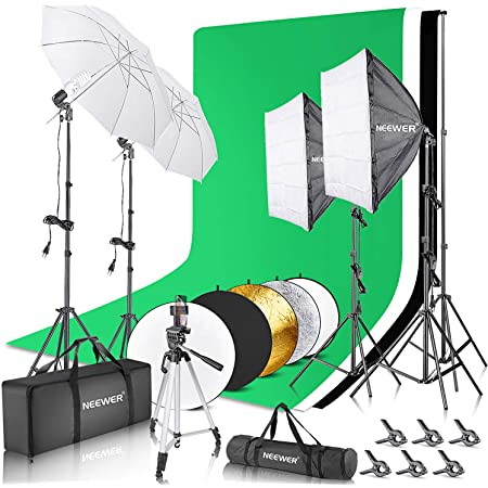 Neewer Komplett Fotografie Studio Beleuchtung Set Kamera