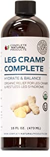 Leg Cramp Complete 16oz - Natural Liquid Organic Amish Muscle, Foot & Leg Cramp Remedy Relief, Vitamin, & Supplement