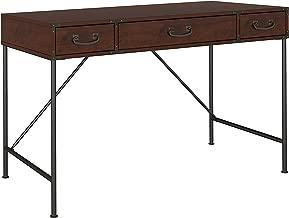 kathy ireland Home by Bush Furniture Ironworks 48W Writing Desk in Coastal Cherry