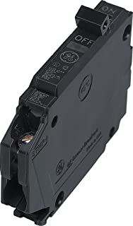 Connecticut Electric General Electric THQP115, 1-Pole 15-Amp Thin Series Circuit Breaker, Black