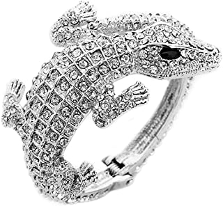 Women's Hinged Pave Alligator Wrap Bracelet