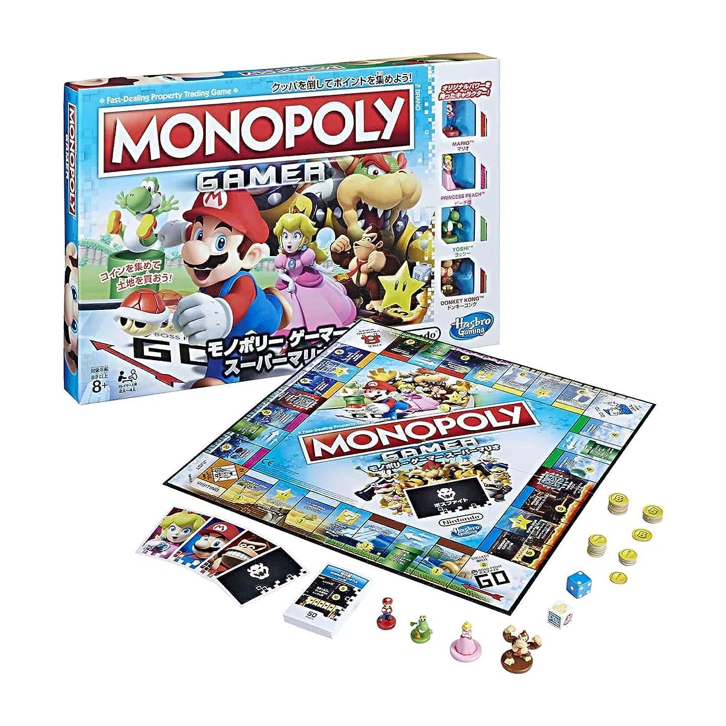 君主影響力のあるタイマーハズブロ ボードゲーム モノポリー ゲーマー スーパーマリオ C1815 正規品